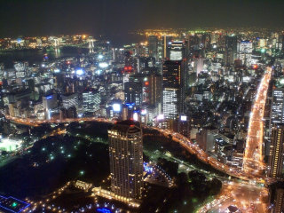 Romantic Helicopter Cruise of Metropolitan Tokyo at Night-time