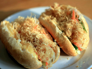Banh Mi Ga - Mrs Chi's Bread Roll sandwich with chicken floss
